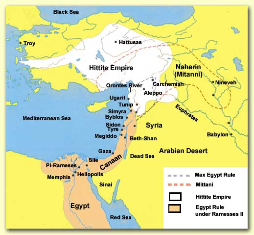 Map of Hittite Empire